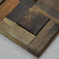 Recycle Wood Mosaic Wall Panels , Boat Wood Wall Board / Sidings For House Decoration Manufactures