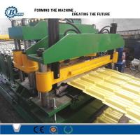 China Customized Size Coated Tile Roll Forming Machine For Warehouses / Plants on sale