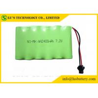 Quality 2400mah 7.2V Nickel Metal Hydride Battery AA NIMH Battery Pack Long Service Life for sale