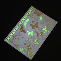 Butterfly Luminous Glow In The Dark Temporary Tattoos Different Patterns Manufactures