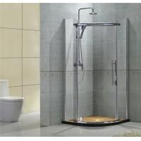 Round Corner Stainless Pivot Shower Enclosures  8MM Clear Nano Tempered Glass For Apartment Manufactures