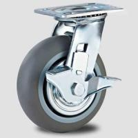Heavy duty caster with TPR wheel ,100mm to 200mm,side brake caster Manufactures