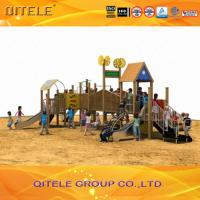 Quality Wood Children Play Area Equipment , Kids Play Park Equipment for sale