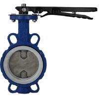 Quality DUCTILE IRON HANDLE WAFER TWO-STEM BUTTERLFY VALVE for sale