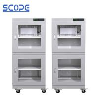 4 Casters Ultra Low Humidity Dry Cabinet / Electronic Humidity Control Cabinet For Camera Manufactures
