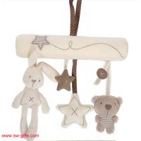 China Baby Rabbit Toy Baby Bed Stroller Hanging Rattle Plush Soft Musical Mobile Toy Carriages on sale