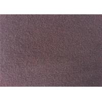 European Style Double Side Wool Velour Fabric For Winter Wear Wine Color Manufactures