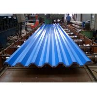 China Blue Powder Coated Corrugated Steel Roofing Sheets Used For Roofing Wall on sale