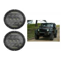 """75W 7"""" DRL Fog JK Jeep Wrangler Headlights With High / Low H4 Or H13 Manufactures"""