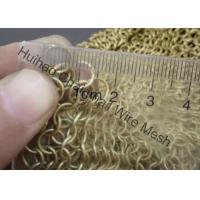 Rigid Metal Mesh Drapery / Brass Wire Ring Mesh Curtain With 8mm Circle Diameter Manufactures