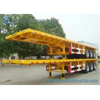 China 45 Feet Container Flatbed Semi Trailer , Capacity 40 T 45 Ton Trailer on sale