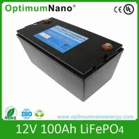 Solar Energy Storage Lithium 12V 100Ah Deep Cycle Battery Long Cycle Lifespan Manufactures