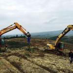 HITACHI EX140 Excavator earth auger machine drilling attachment Manufactures