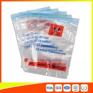 Zip Seal Medical Transport Bags For Hospital , Biohazard Ziplock Bags Manufactures