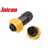 China 3 Pin IP67 Panel Mount Connector Corrosion Resistance With Electric Plug And Socket on sale