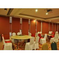 Bare Finish Folding Partition Walls , Acoustic Movable Partition For  Wedding Facility Manufactures