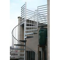 Duplex use spiral staircase with stainless steel railing design Manufactures