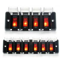 China 6 Gang 12V Circuit Breaker Rocker Switch Panel with led indicator waterproof cover on sale