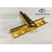 6063 T5 Aluminium Edging Strip / Metal Edging Strip With Polishing Golden Manufactures
