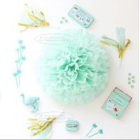 Paper Flower Balls Tissue Paper Pom Poms For  Birthday/Wedding/Party Decorations Manufactures