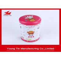 Sweets Metallic Packaging Round Cylinder Gift Tins Artwork CMYK Printed Manufactures