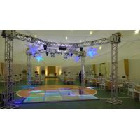 3 Level Adjustable Height Arclic Glass Portable Movable Stage Platform 400KG Loading Capacity 4 X 4ft Manufactures