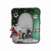 Hand-painted Photo Frame, Made of Polyresin Material Manufactures