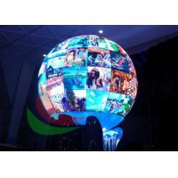 Spherical P4.8 Creative LED Display Signage For Interior Shows Diameter 1200mm Manufactures