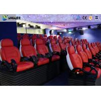 Large Screen 5D Movie Theater Black / White Color Seats For Amusement Park Manufactures