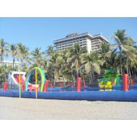 Durable Inflatable Water Park Slides With Big Pool For Beach Or Hotel Manufactures