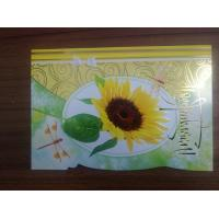 China Promotional Beautiful Die Cut Flower Series Cards Printing   on sale