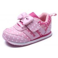 Soft Bottom Pink Little Kids Shoes Baby Girl Shoes Breathable EUR 21-25 Size Manufactures