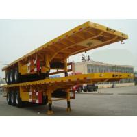 Flat-bed Semi Trailer Truck 3 Axles 30-60Tons 13m for Loading Container Manufactures
