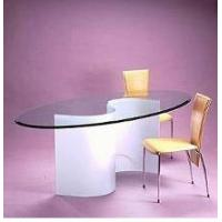 Dining Furniture Tempered glass top round dining table and chairs Manufactures