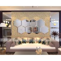 Custom mirror wall sticker, self adhesive wall mirror decoration Manufactures