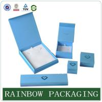 Quality Custom Size Sky Blue Jewelly Case , Grazioso Cardboard Box for Jewelly Box for sale