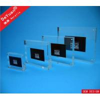 Home Acrylic Wall Photo Frames Pictuer Holder Display Stand 20mm Thickness Manufactures