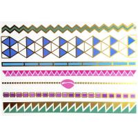Gold, rose gold, silver, black, turquoise.Colorfull foil metallic temporary tattoo. Manufactures