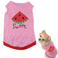 pink Pet Puppy Summer Shirt Pet Clothes T Shirt with watermelon printing Manufactures