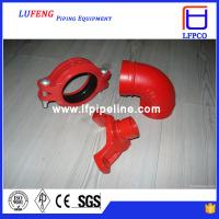 ductile iron grooved pipe fitting elbow 90 dn150