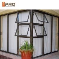 House Inward Opening Aluminium Awning Windows Double Tempered Clear Glazing Manufactures
