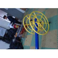 Quality Yellow Fitness Equipment Machines , DIY Outdoor Gym Equipment for sale
