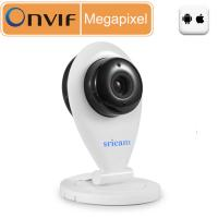 China Sricam SP009 WLAN Wireless 720P Onvif Indoor Plug And Play IP Video Surveillance Camera - White on sale