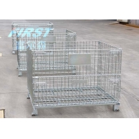 China Warehouse 800KGS Capacity Double Faced Wire Mesh Box Pallet on sale