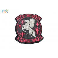 China Military Armband PVC Rubber Patch Irregular Shape 2D PVC Patch With Hook And Loop on sale
