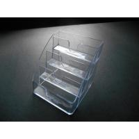China Acrylic BUSINESS CARDHOLDER 4 compartments tier Clear plastic display stand on sale