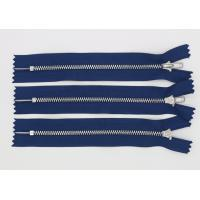 Polished Ykk Teeth Heavy Duty 2 Way Zippers , Long Heavy Duty Zippers For Leather Manufactures