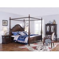 Palatial Villa House Bedroom Furniture set Classic Wooden King size Bed with Grand Night table with Decoration display Manufactures