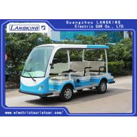 CE Approved Open Top Sightseeing Car 48V DC System 8 Passenger Mini Bus 4 Wheel electric mini bus /shuttle bus Manufactures