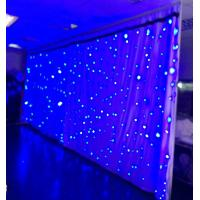 2018 LED velvet curtain fabric for stage backdrop wedding decoration drapery Manufactures